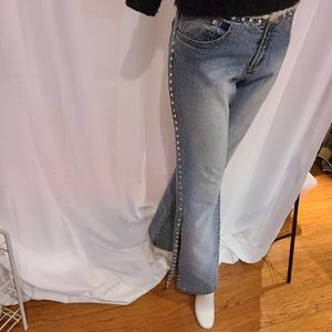 Parasuco studded on hip and sides with slits jeans